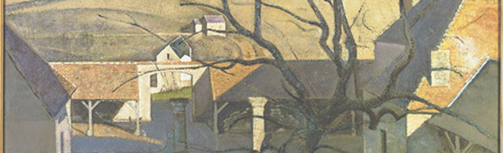 Balthus, Große Landschaft mit Baum (Gutshof in Chassy), 1960, Öl auf Leinwand, 130,5 x 162 cm, Centre Pompidou, Musée national d'art moderne – Centre de création industrielle, Paris © Balthus 2016 © Foto: Photo RMN/Centre Pompidou, MNAMCCI RMN-GrandPalais © Balthus 2016