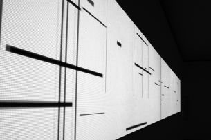 Andrés Ramírez Gaviria, Composition, 2006, software projection, black/white, sound, variable dimensions. © Courtesy the artist