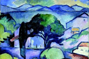 Georges Braque Landschaft in der Provence, L'Estaque (Paysage de Provence, l'Estaque), 1907 Privatbesitz, Deutschland © VBK, Wien, 2008/09