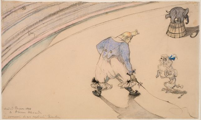 Henri de Toulouse-Lautrec, Im Zirkus: Clown Footit – Dresseur, 1899. Statens Museum for Kunst, Kopenhagen © SMK Photo