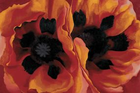 Georgia O'Keeffe, Oriental Poppies, 1927, Oil paint on canvas, 76,2 x 101,9, The collection of the Frederick R.Weisman Art Museum at the University of Minnesota, Minneapolis, Museum purchase 1937. © Georgia O'Keeffe Museum / Bildrecht, Wien, 2016