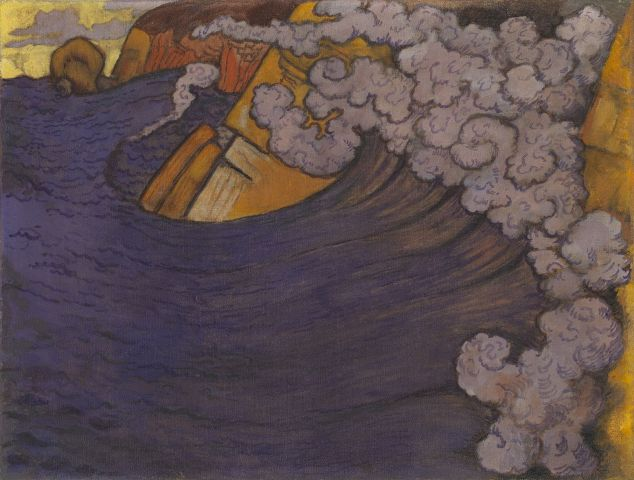 Georges Lacombe, Die violette Woge, 1896/97, Öl auf Leinwand, 47,5 x 62,5 cm, The George Economou Collection © Odysseas Vaharides / Courtesy The George Economou Collection