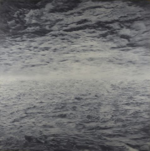 Seestück (See-See) (Seascape [Sea-Sea]), 1970, Oil on canvas, 200 x 200 cm, Private collection © Gerhard Richter 2020