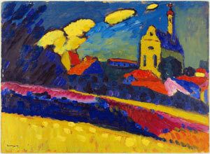Landscape with Church (Murnau), 1909 Collection Im Obersteg © VBK, Wien, 2003