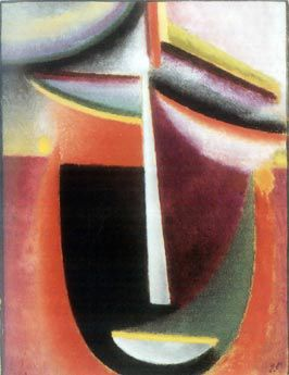 Abstract head (Mysterium), 1925, Collection in Obersteg © VBK, Wien, 2002