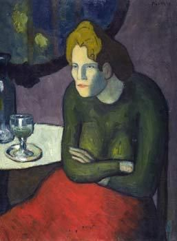 Buveuse d'absinthe, Pablo Picasso, 1901 Collection Im Obersteg © VBK, Wien, 2003