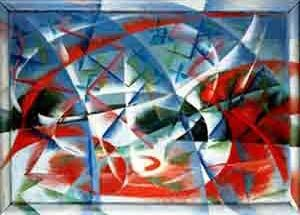 Abstract speed and sound, Giacomo Balla; 1913 oil on wood, Peggy Guggenheim Collection, Venedig © VBK, Wien, 2003