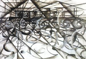 Running car, Giacomo Balla,1913, oil on paper, Private collection © VBK, Wien, 2003