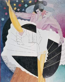 The dancer Nr.5, Gino Severini; 1915/16 oil on canvas; Pallant House Gallery,Chirchester,U.K., Kearley Bequest © VBK, Wien, 2003