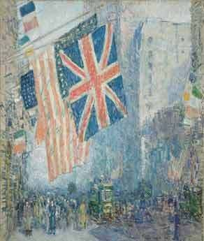 The Union Jack, Childe Hassam, New York, April Morn, 1918 Hirshhorn Museum and Sculpture Garden, Washington DC © BA-CA Kunstforum