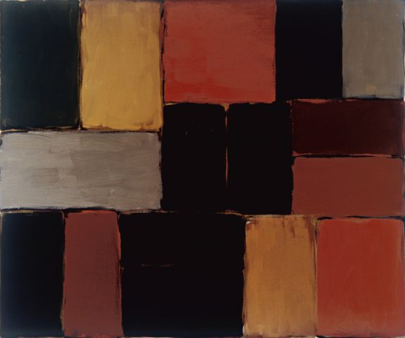 Sean Scully Wall of Light Red Green, 2006 Öl auf Leinwand, 197 x 232 cm © Sean Scully