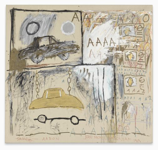 Diese Bildbeschreibung widmet Ihnen Radio Stephansdom Jean-Michel Basquiat, Cadillac Moon, 1981, Sammlung Bischofberger, Schweiz © The Estate of Jean-Michel Basquiat, Bildrecht, Wien, 2014