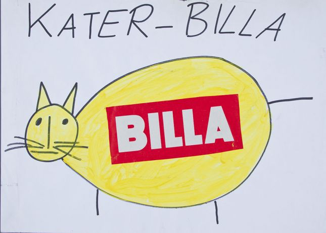 Alf Poier, Kater-Billa, 1999 © Courtesy the artist