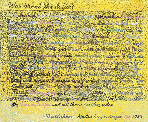 Martin Kippenberger, Ohne Titel, 1995, Privatsammlung © Estate of Martin Kippenberger, Galerie Gisela Capitain, Cologne