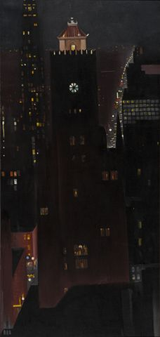 Georgia O'Keeffe, New York, Night, 1928-1929, Sheldon Museum of Art, Nebraska Art Association, Thomas C. Woods Memorial. Photo © Sheldon Museum of Art © Georgia O'Keeffe Museum / Bildrecht, Wien, 2016