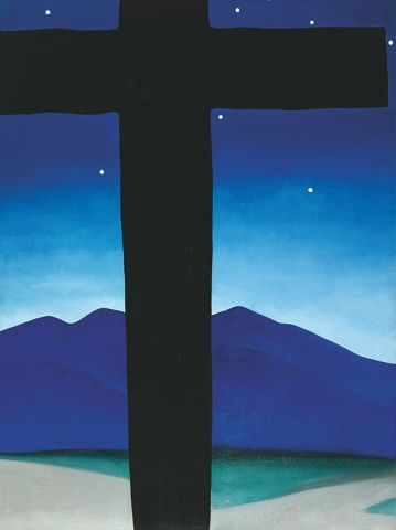 Georgia O'Keeffe, Black Cross with Stars and Blue, 1929, Private collection © 2016 Georgia O'Keeffe Museum/Bildrecht, Wien
