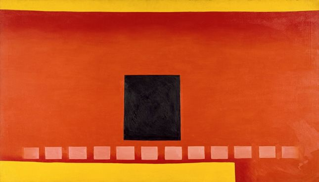 Georgia O'Keeffe, Black door with Red, 1954, Chrysler Museum of Art, Norfolk, VA, Bequest of Walter P. Chrysler, Jr. © 2016 Georgia O'Keeffe Museum/Bildrecht, Wien
