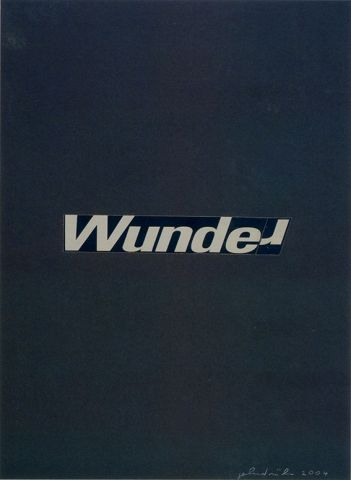 Gerhard Rühm, Wunde/r, 2004 © Courtesy the artist